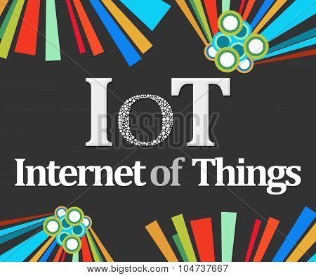 IoT - Internet Of Things Dark Colorful Elements