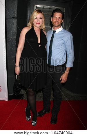 LOS ANGELES - OCT 11:  Adrienne Frantz, Scott Bailey at the Les Girls 15 at the Avalon Hollywood on October 11, 2015 in Los Angeles, CA