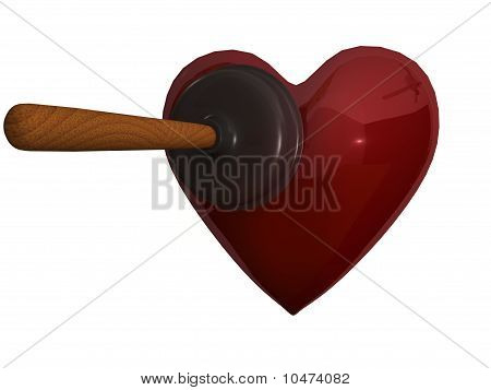 Plunger and heart