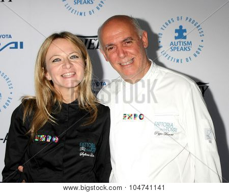 LOS ANGELES - OCT 8:  Peppe Barone at the Autism Speaks Celebrity Chef Gala at the Barker Hanger on October 8, 2015 in Santa Monica, CA