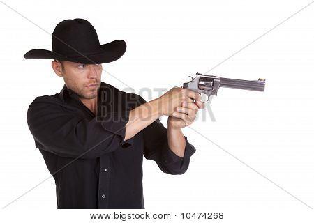 Holding Gun Man