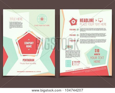 Pentagram Business Flyer