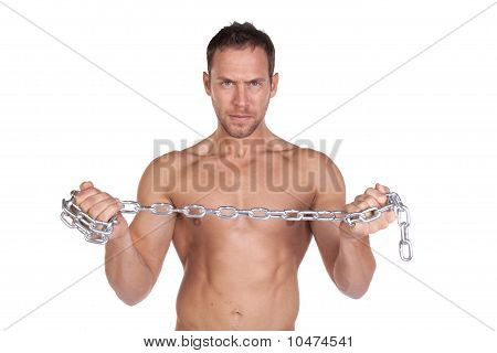 Man Holding Chain Hand