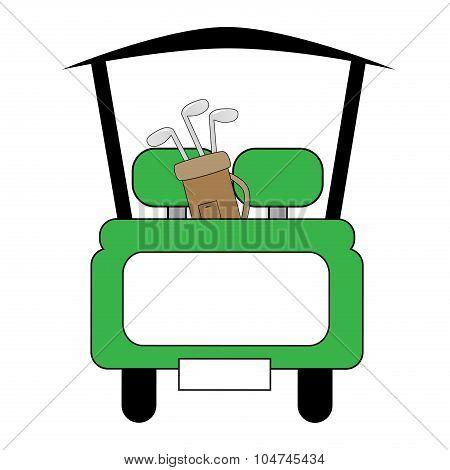 Green Golf Cart