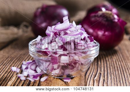 Bowl With (diced) Red Onions