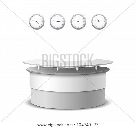 Vector realistic reception counter