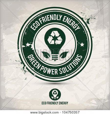 Alternative Eco Energy Stamp