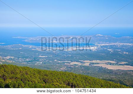 Bay Of Porto Vecchio, Bird Eye View. Corsica