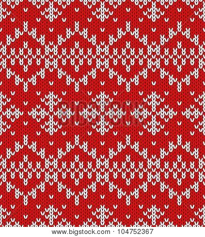Vector Snowflakes Christmas Pattern