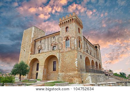 Medieval Castle Of Crecchio, Abruzzo, Italy