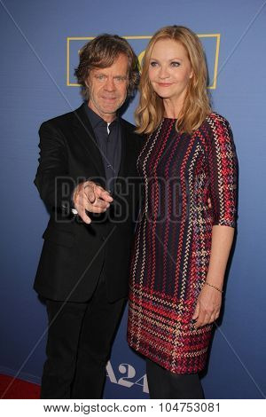 LOS ANGELES - OCT 13:  William H Macy, Joan Allen at the