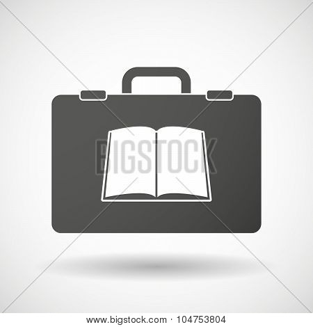 Isolated Briefcase Icon With A Book