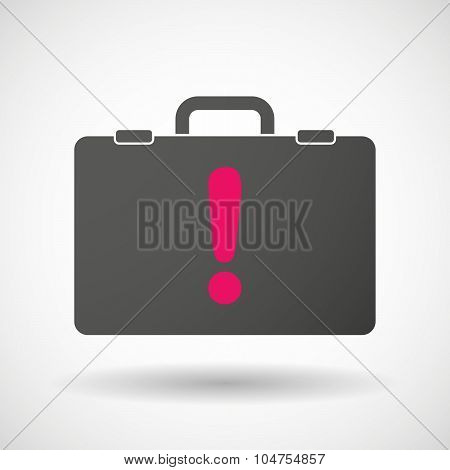 Isolated Briefcase Icon With An Admiration Sign