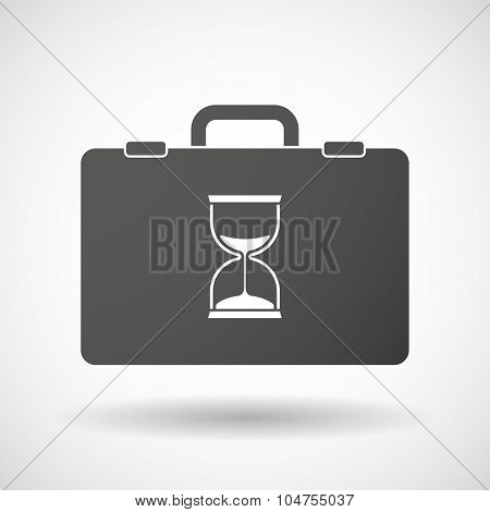 Isolated Briefcase Icon With A Sand Clock