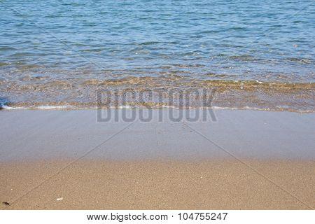 Seashore And Wet Sand Background