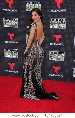 LOS ANGELES - OCT 8:  Carmen Villalobos at the Latin American Music Awards at the Dolby Theater on October 8, 2015 in Los Angeles, CA