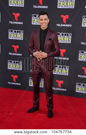 LOS ANGELES - OCT 8:  Luis Coronel at the Latin American Music Awards at the Dolby Theater on October 8, 2015 in Los Angeles, CA