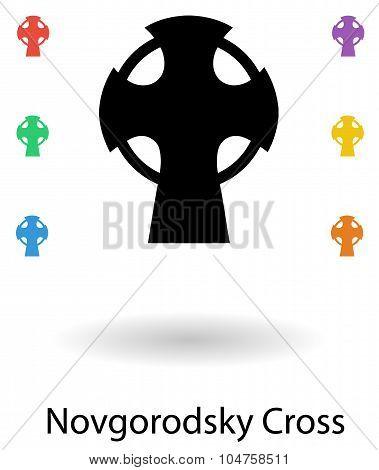 Novgorodsky Cross Vector Illustration Set