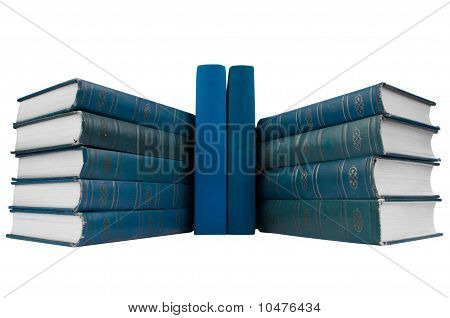 Pile Of  Blue Books