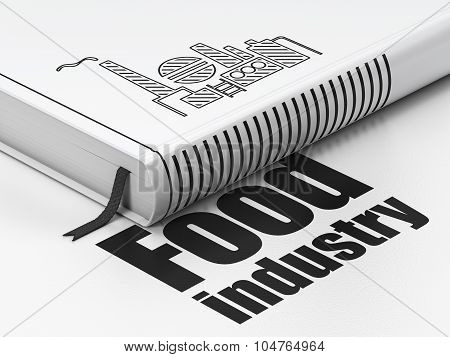Manufacuring concept: book Oil And Gas Indusry, Food Industry on white background