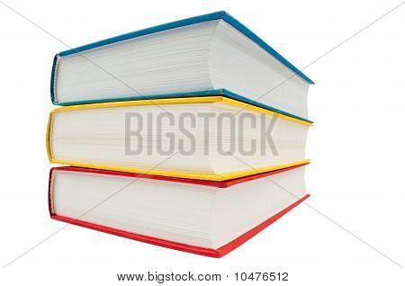 Closeup Shot Of Stack Of Books