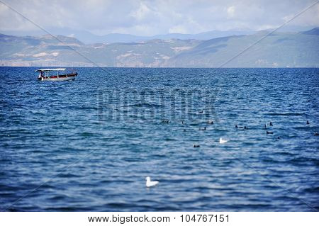 Boat On Ohrid Lake