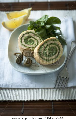 Salmon Roulade Close Up