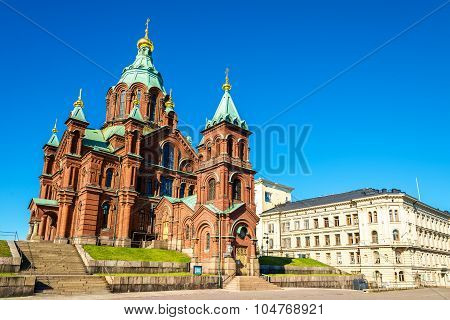 Uspenski Cathedral, An Eastern Orthodox Cathedral In Helsinki - Finland