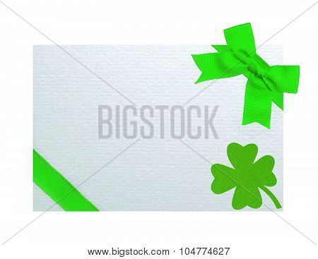 Greeting Card For Saint Patrick's Day Isolated On White Background