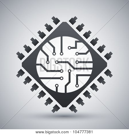 Microchip Icon, Vector
