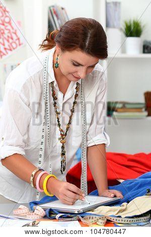 Portrait Of Adult Female Dressmaker