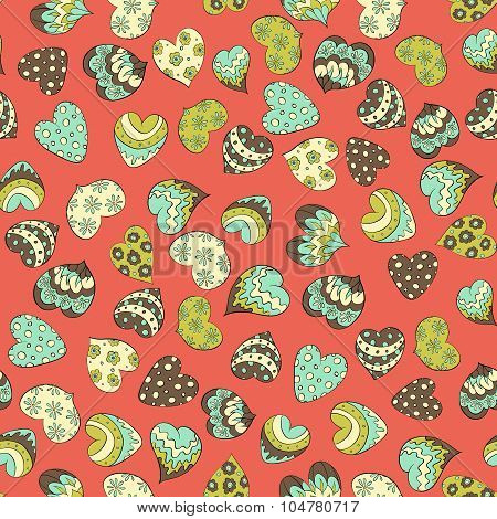 colofruf valentines hearts seamless pattern.