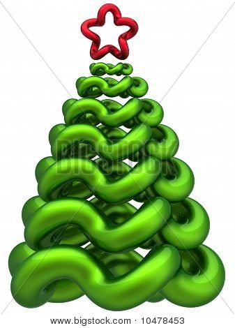 Green Christmas tree abstract