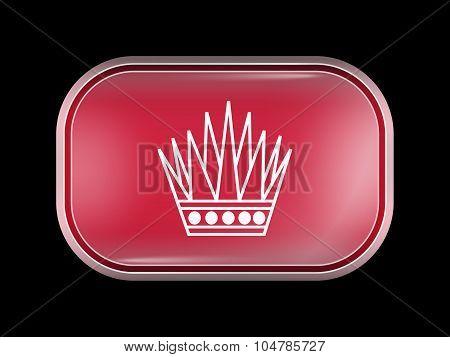 Variant Flag Of Bahrain. Rectangular Shape With Rounded Corners