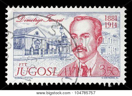 YUGOSLAVIA - CIRCA 1981: stamp printed by Yugoslavia, shows Dimitrije Tucovic, circa 1981