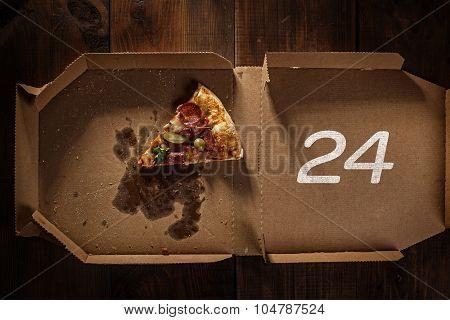 Pizza Slice 24 In The In Delivery Box