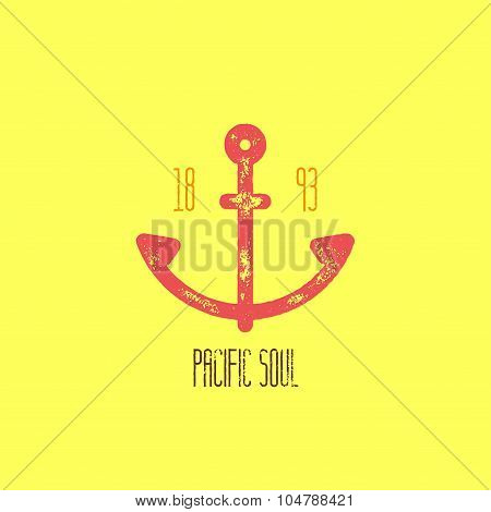 Pacific Soul T-shirt Design - Vector Illustration