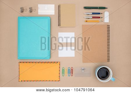 Mock Up Template Of Stationary In Everyday Life