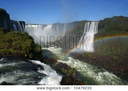 Waterfall at the Iguazu Falls