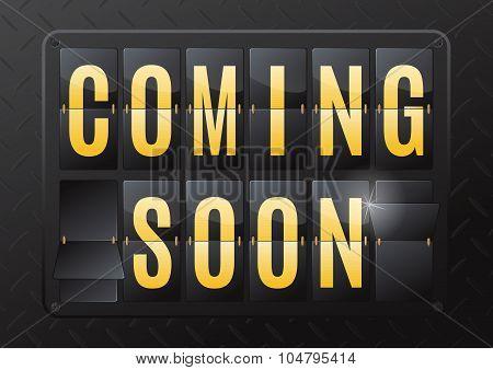 Coming Soon Steel Flip Calendar.