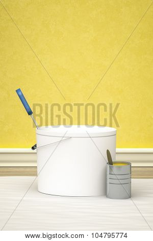 An image of a bucket for redecoration
