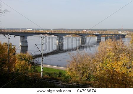 Road Bridge In The City Of Perm.