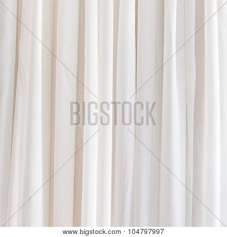 White curtain background for design