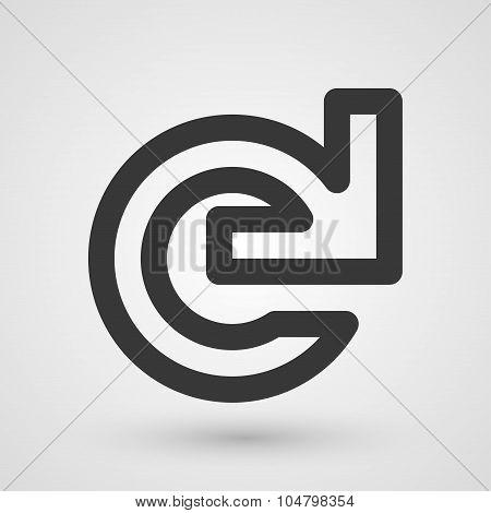 Black Reload Icon