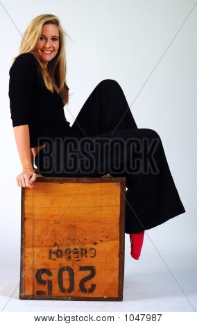 Girl On A Box