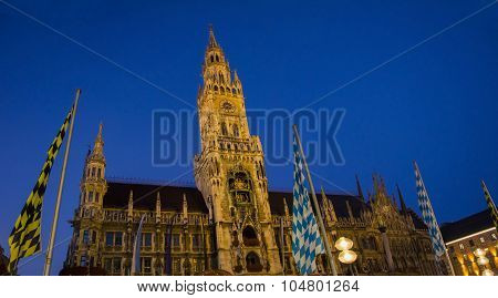Townhall Munich By Night
