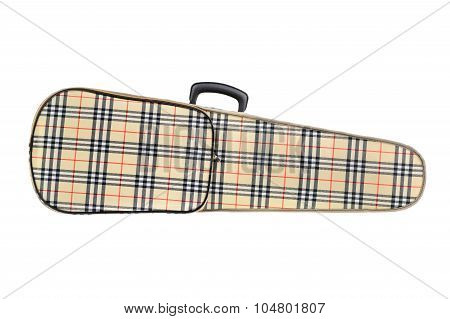 Violin case isolated on white background .
