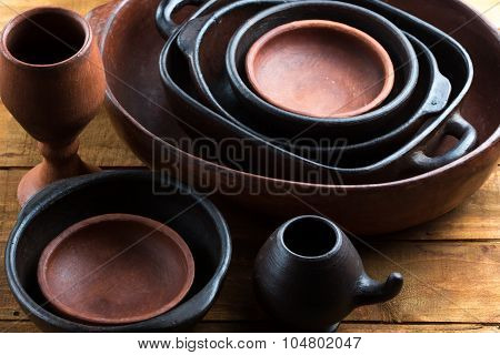 Clay Ceramic Pottery, Earthenware Background