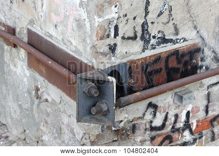 Wall Anchor At A Dilapidated House