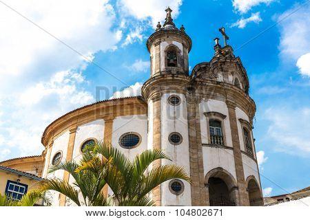 Church of Nossa Senhora do Rosario in Ouro Preto, Minas Gerais, Brazil